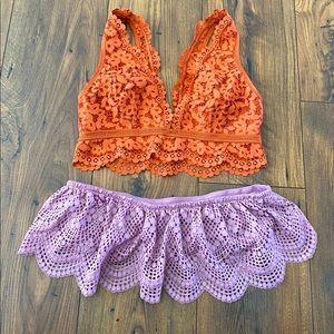 Bundle of 2 Victoria's Secret Bralettes, L